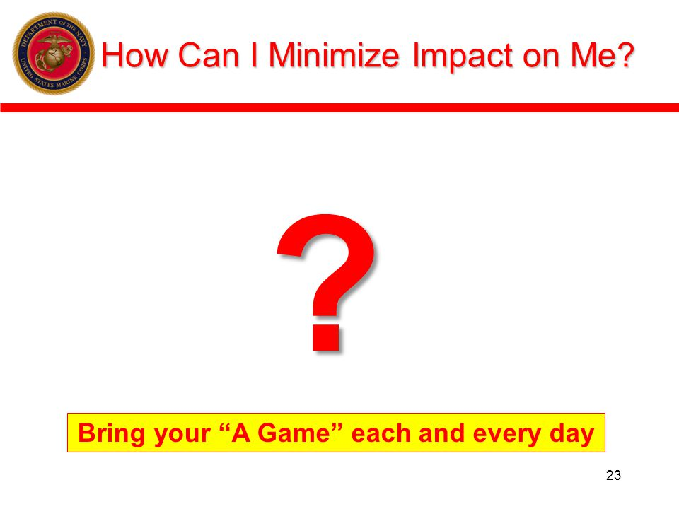 How Can I Minimize Impact on Me