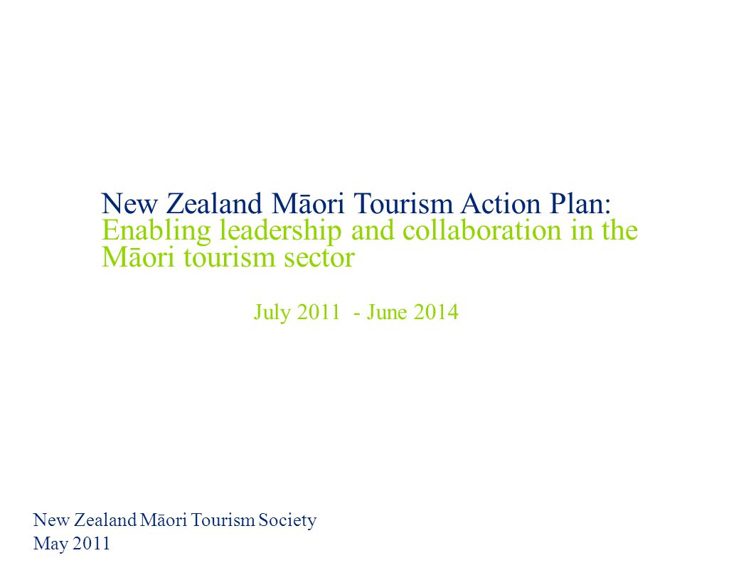 New Zealand Māori Tourism Society May 2011