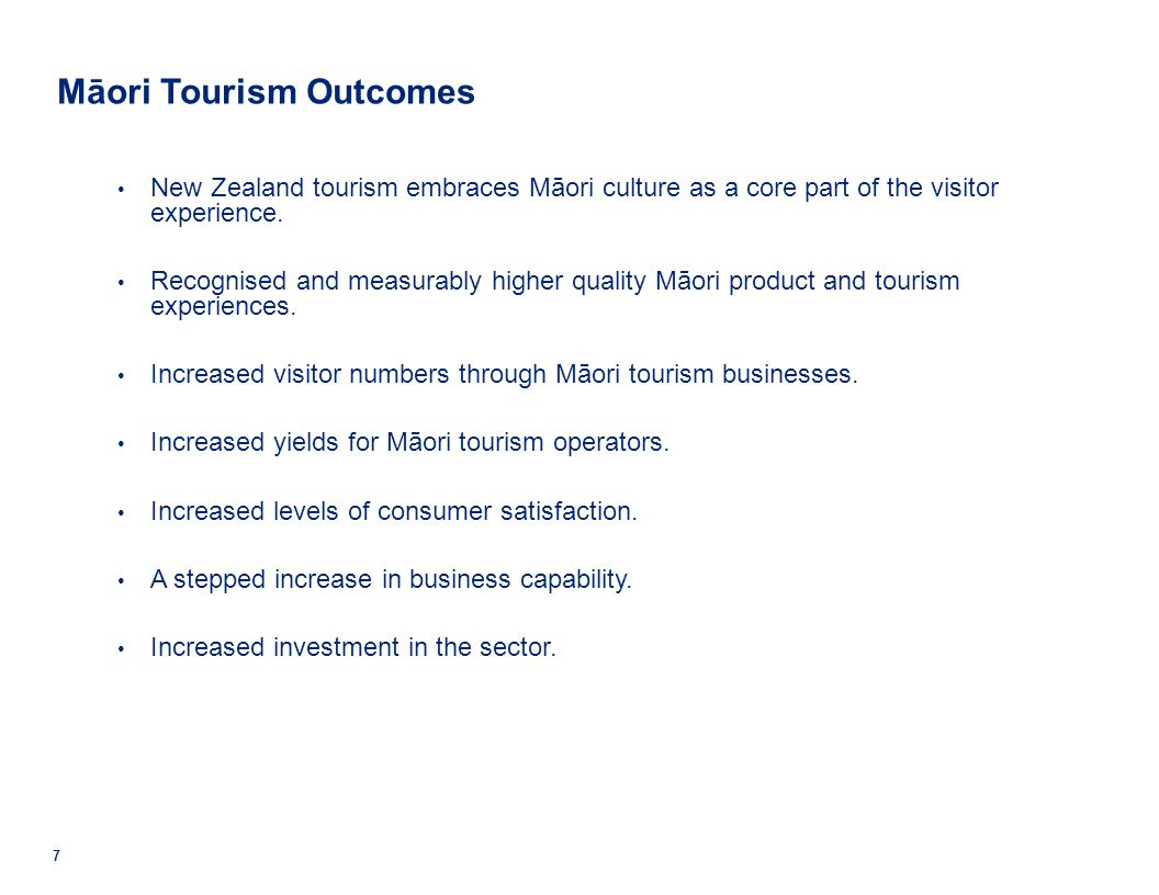 Māori Tourism Outcomes