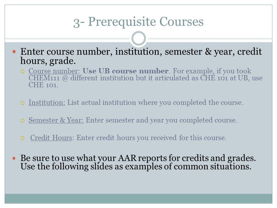 3- Prerequisite Courses