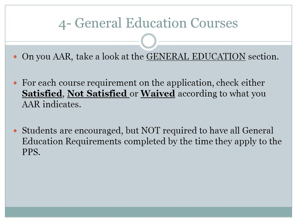 4- General Education Courses