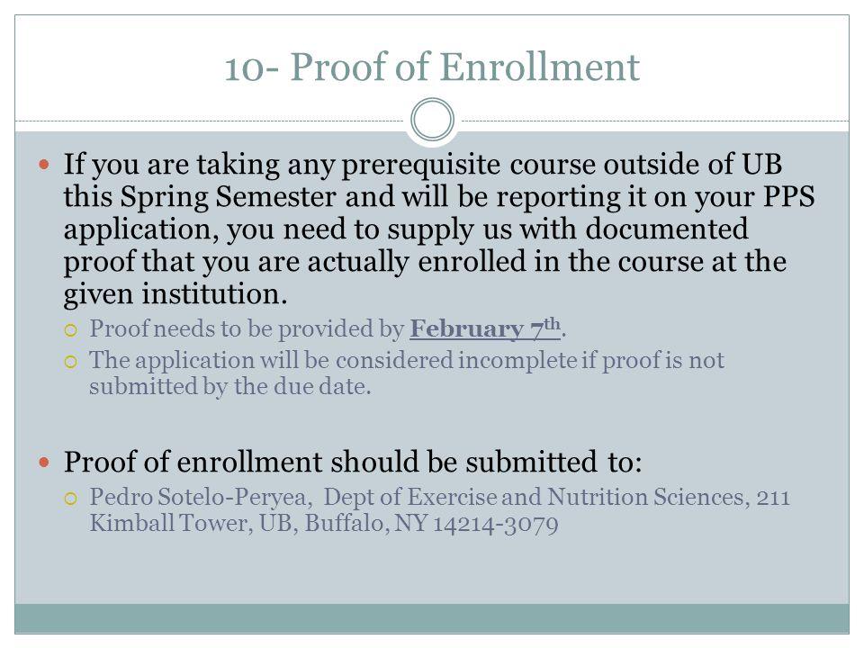 10- Proof of Enrollment