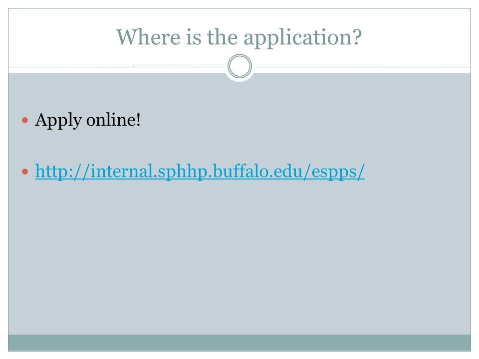 Where is the application