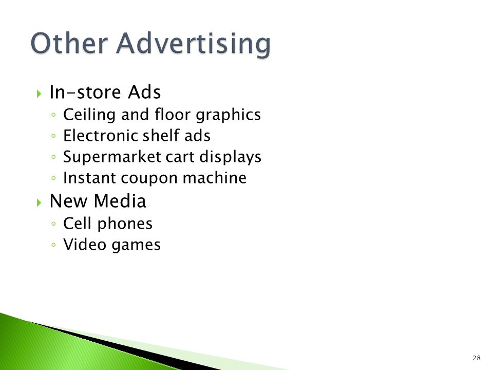 Other Advertising In-store Ads New Media Ceiling and floor graphics