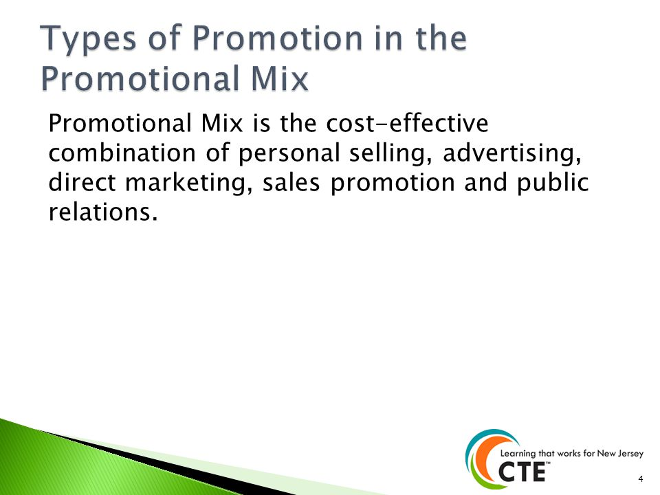 Types of Promotion in the Promotional Mix
