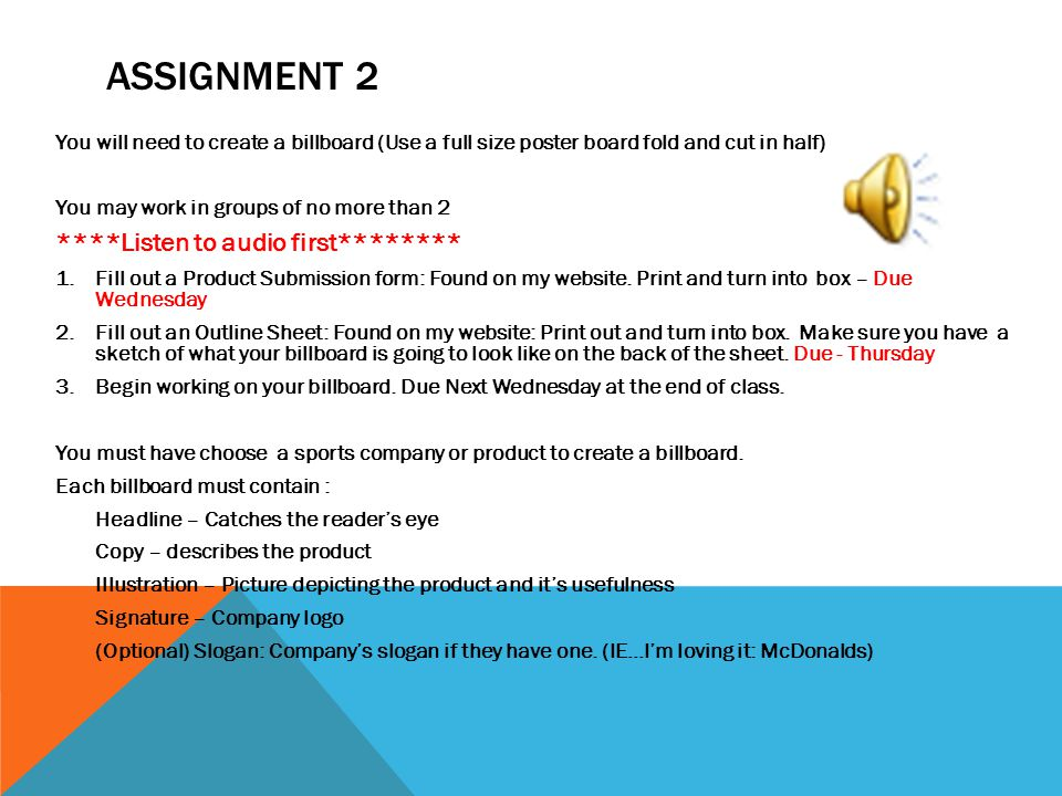 Assignment 2 ****Listen to audio first********