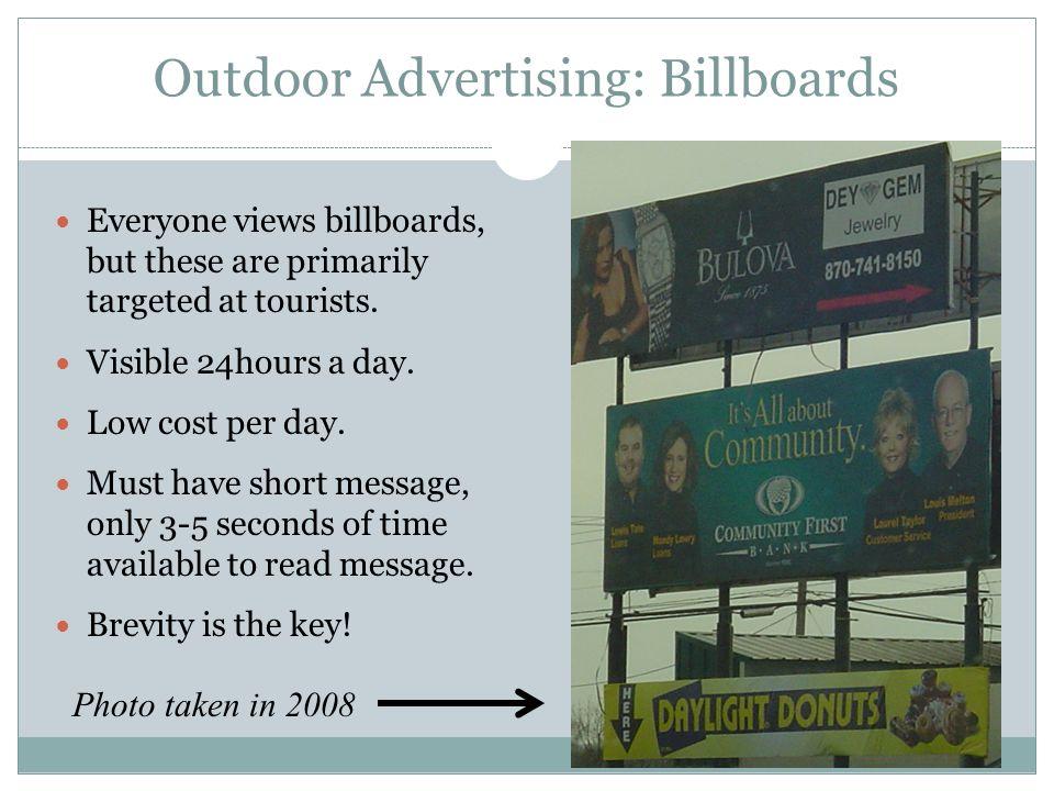 Outdoor Advertising: Billboards