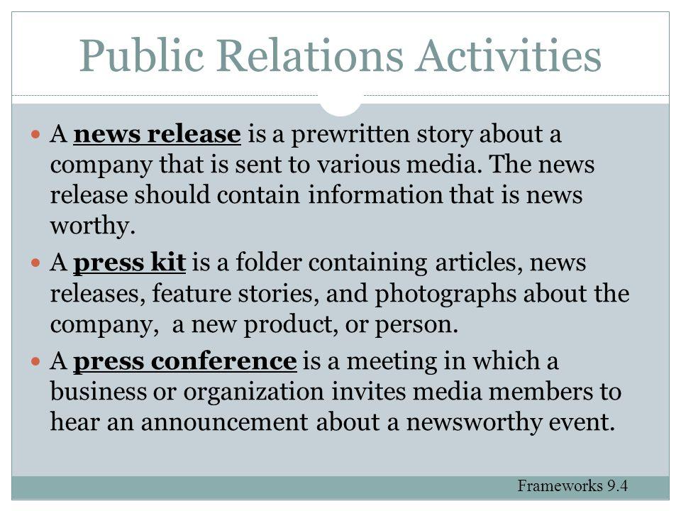 Public Relations Activities