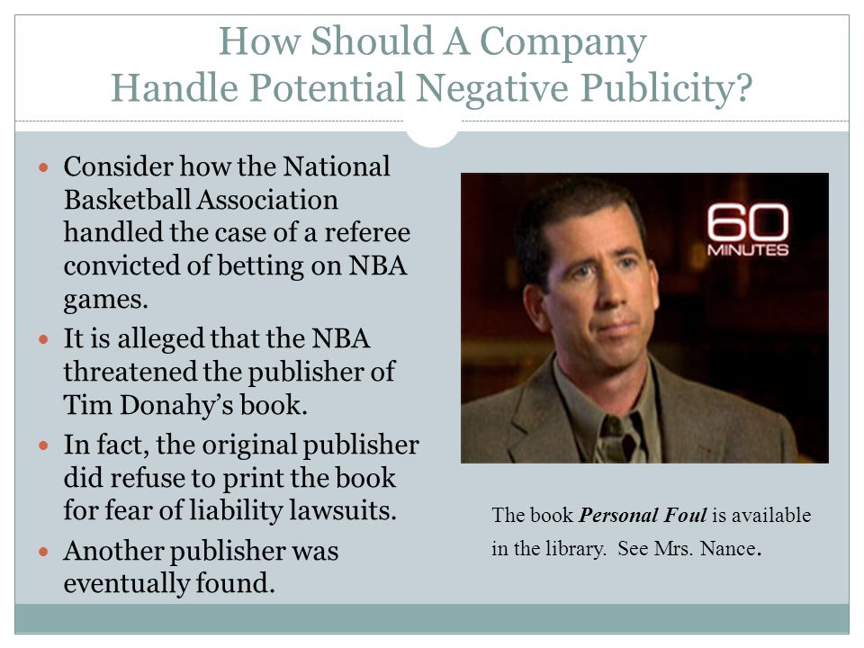 How Should A Company Handle Potential Negative Publicity