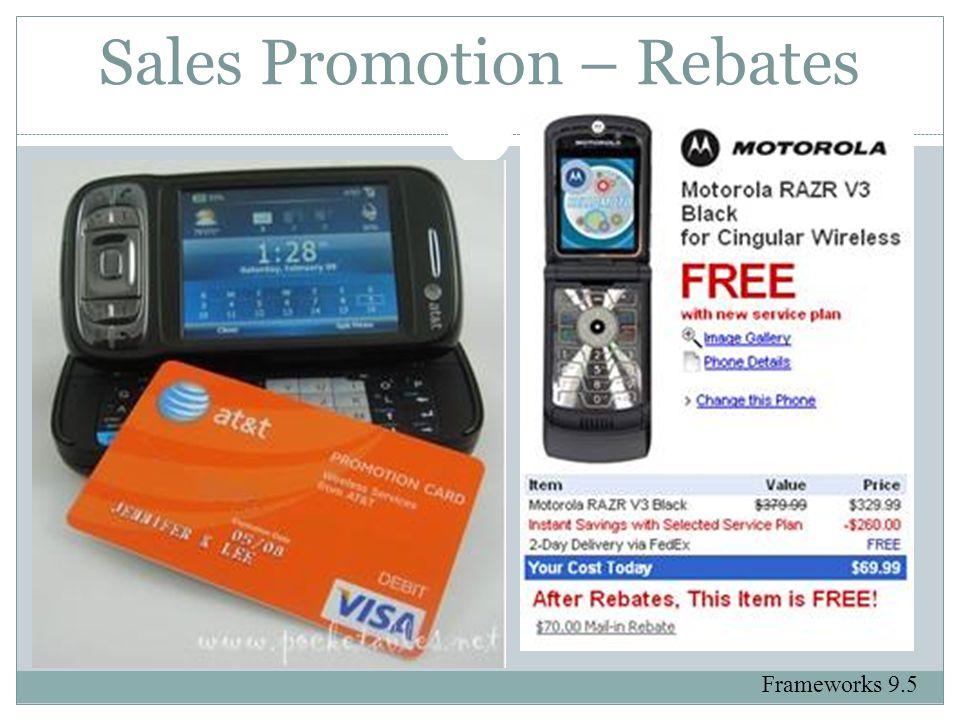 Sales Promotion – Rebates