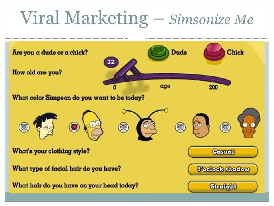 Viral Marketing – Simsonize Me