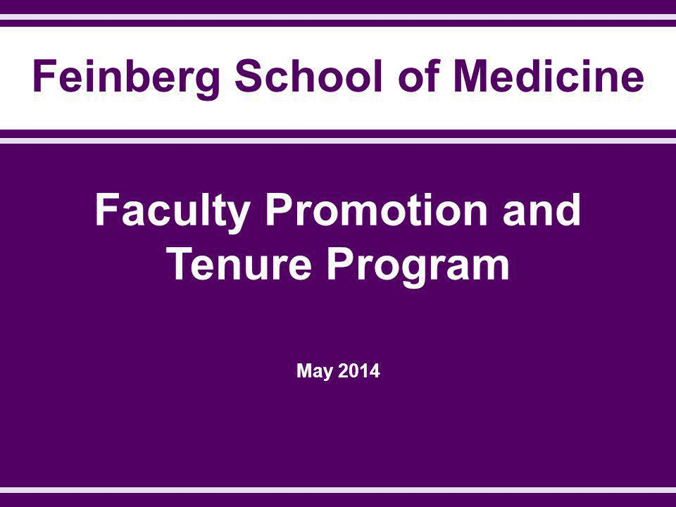 Faculty Promotion and Tenure Program