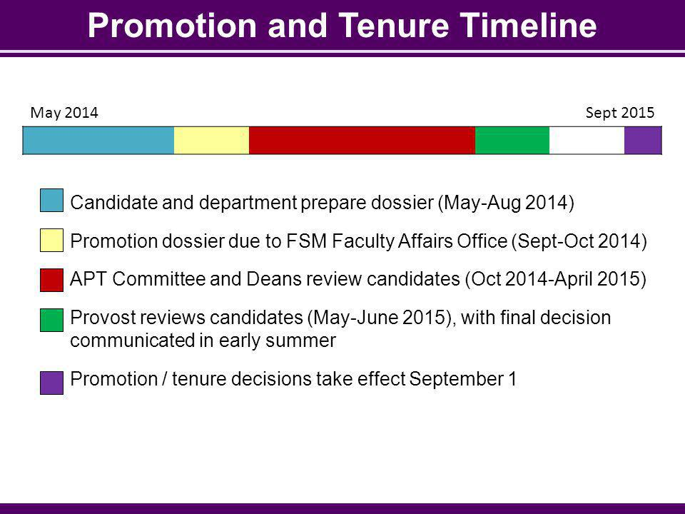 Promotion and Tenure Timeline