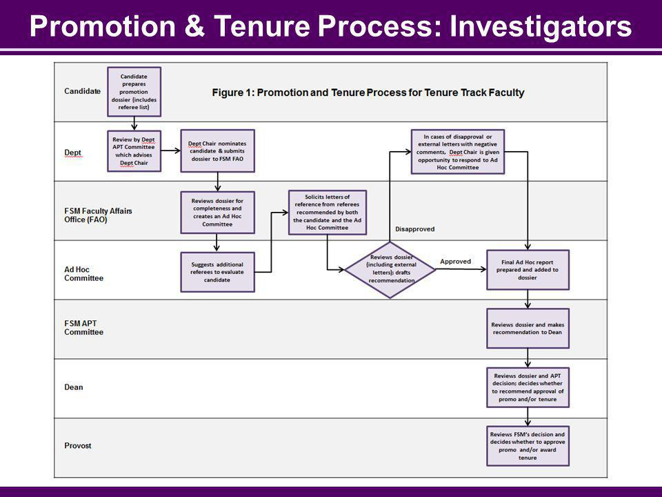 Promotion & Tenure Process: Investigators