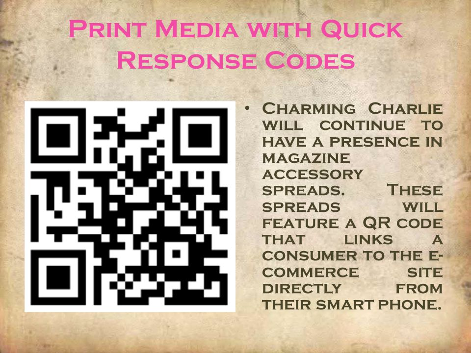 Print Media with Quick Response Codes