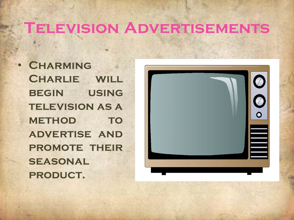 Television Advertisements