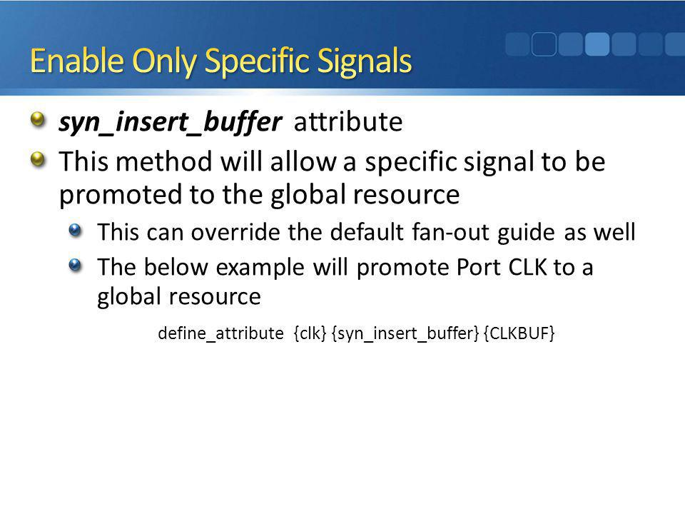 Enable Only Specific Signals