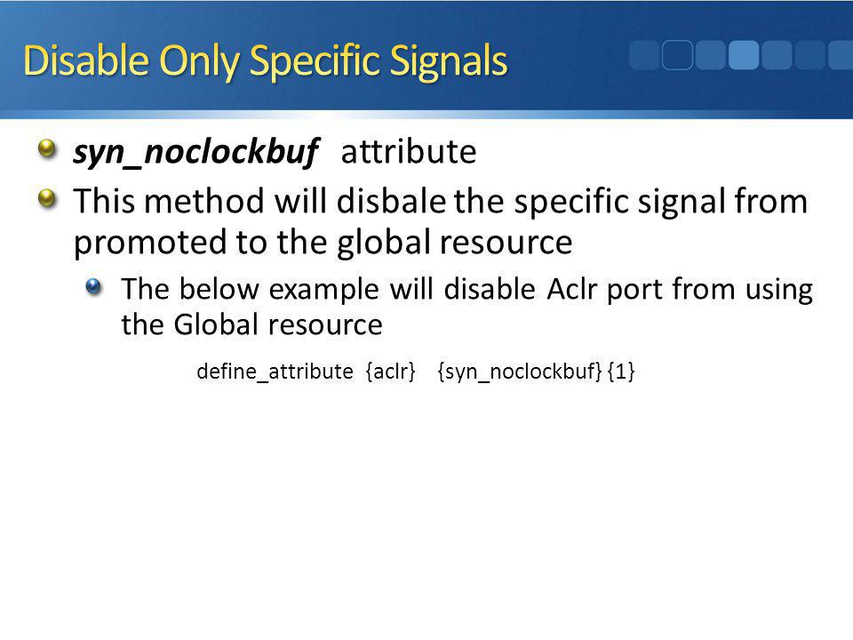 Disable Only Specific Signals