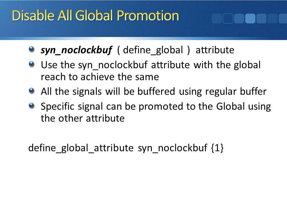 Disable All Global Promotion