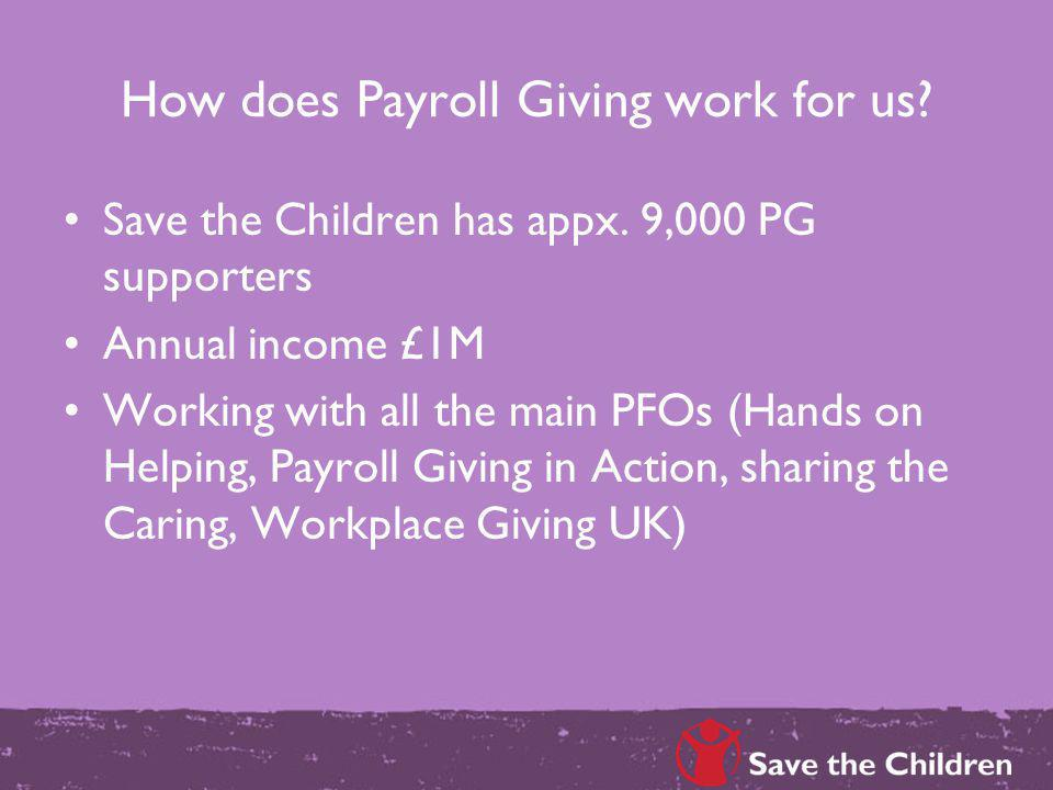 How does Payroll Giving work for us