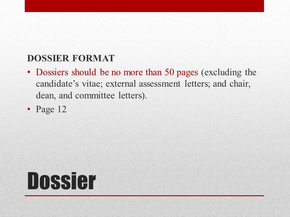 Dossier DOSSIER FORMAT