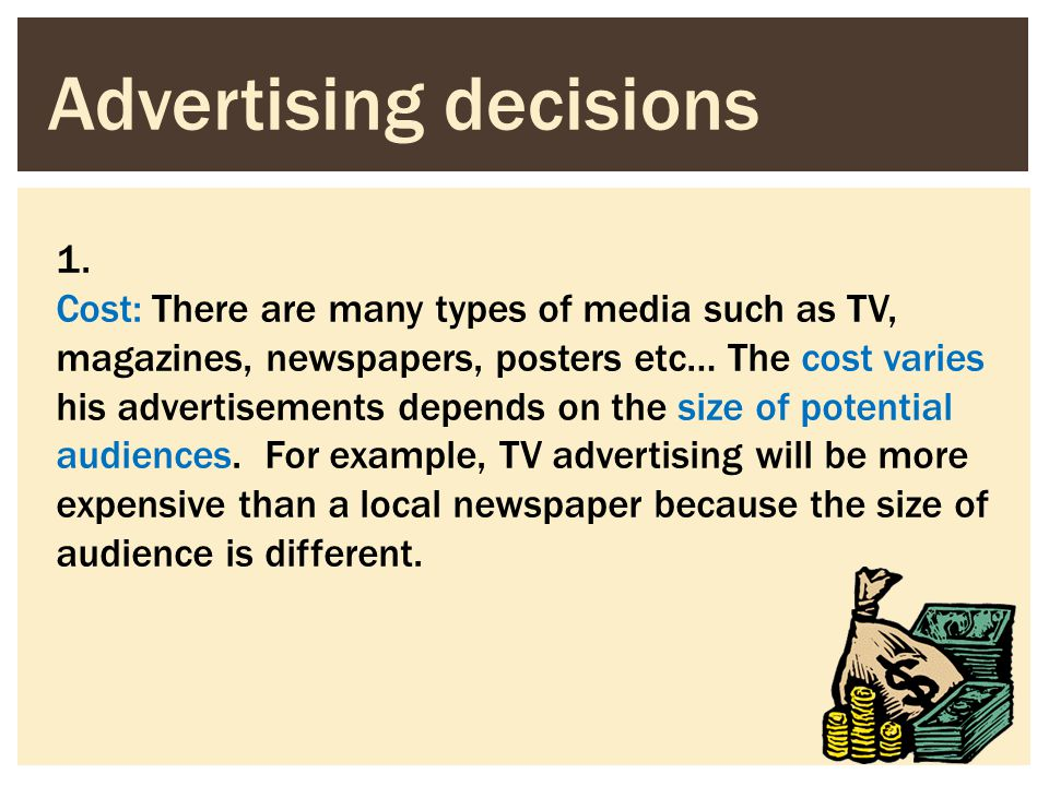 Advertising decisions
