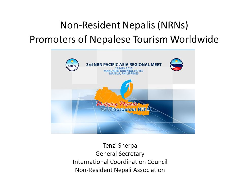 Non-Resident Nepalis (NRNs) Promoters of Nepalese Tourism Worldwide