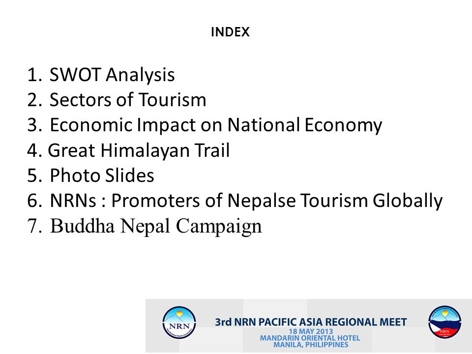 Economic Impact on National Economy 4. Great Himalayan Trail