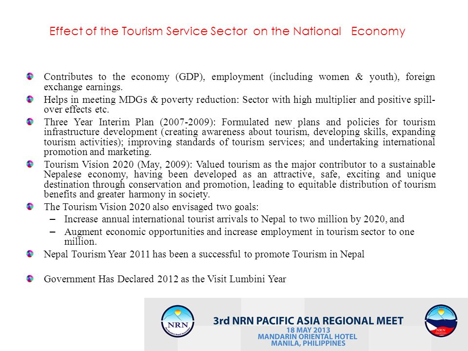 Effect of the Tourism Service Sector on the National Economy