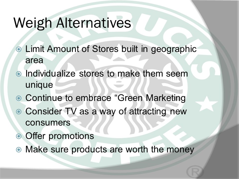 Weigh Alternatives Limit Amount of Stores built in geographic area