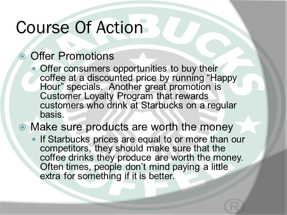 Course Of Action Offer Promotions