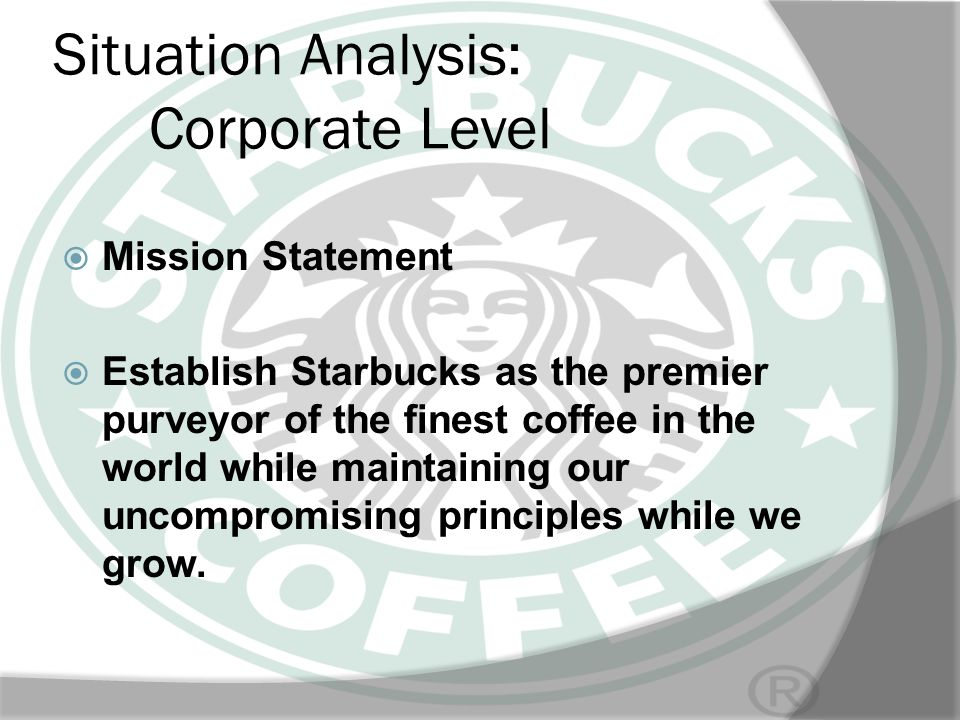 Situation Analysis: Corporate Level