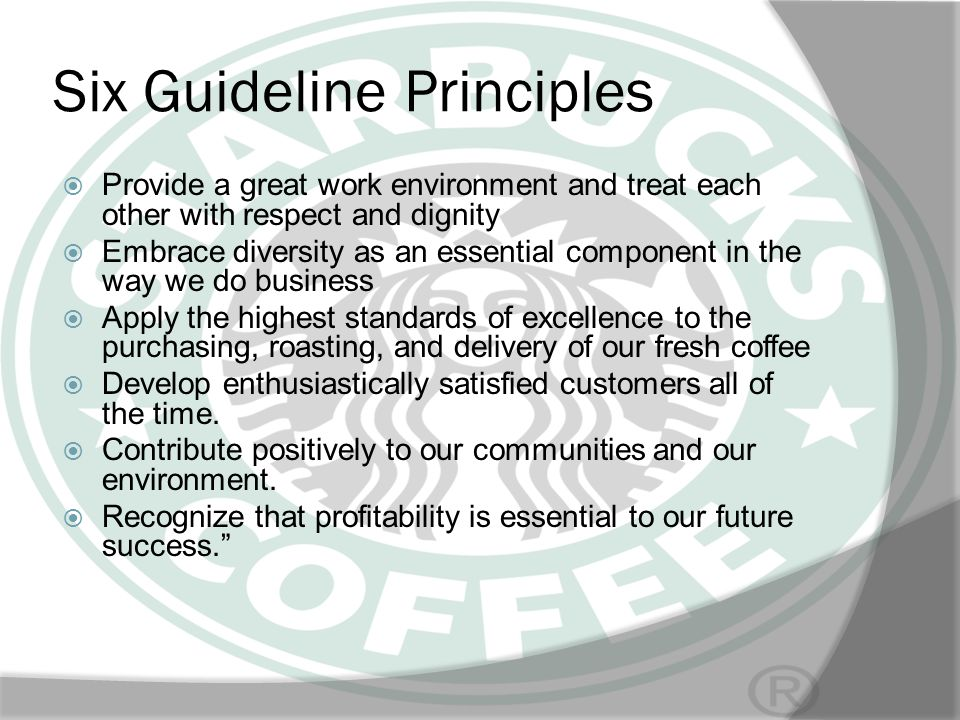 Six Guideline Principles