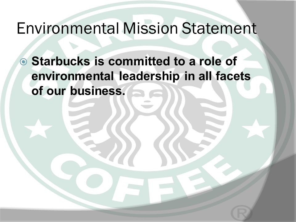 Environmental Mission Statement