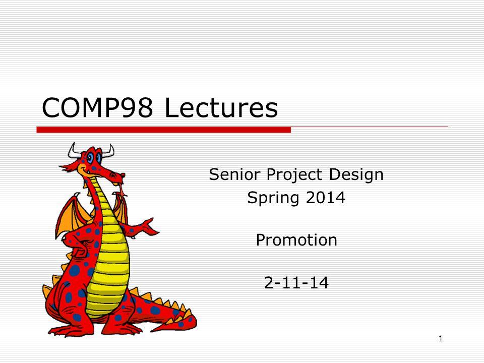 Senior Project Design Spring 2014 Promotion 2-11-14