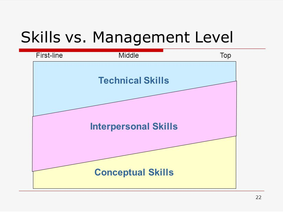 Skills vs. Management Level