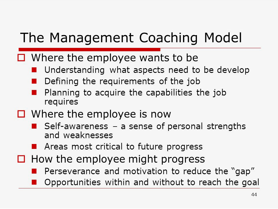 The Management Coaching Model