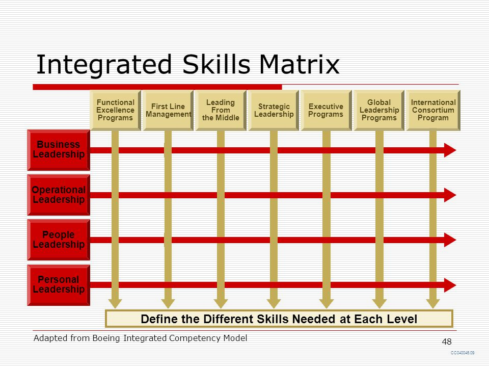 Integrated Skills Matrix