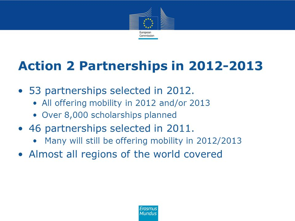 Action 2 Partnerships in 2012-2013