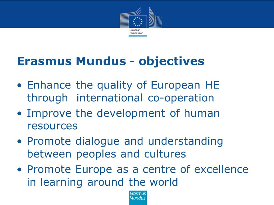 Erasmus Mundus - objectives