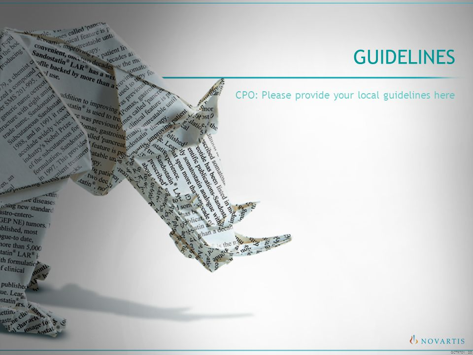 Guidelines CPO: Please provide your local guidelines here
