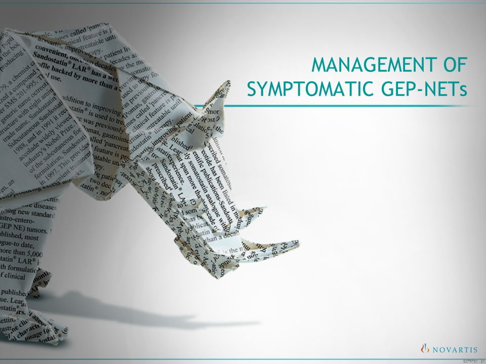 MANAGEMENT OF SYMPTOMATIC GEP-NETs