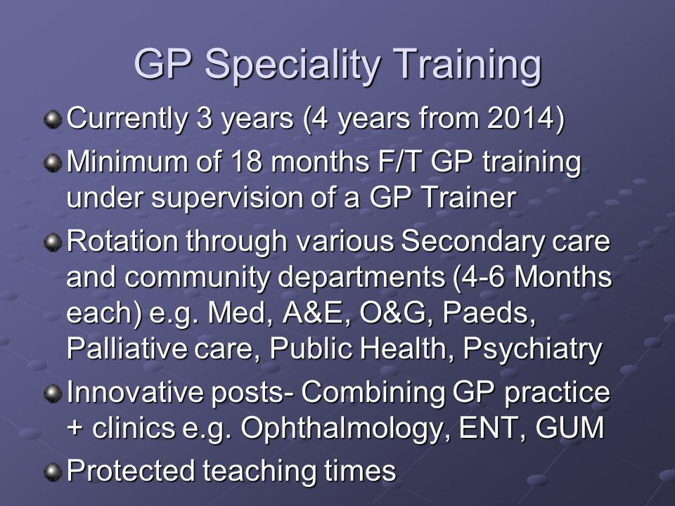 GP Speciality Training