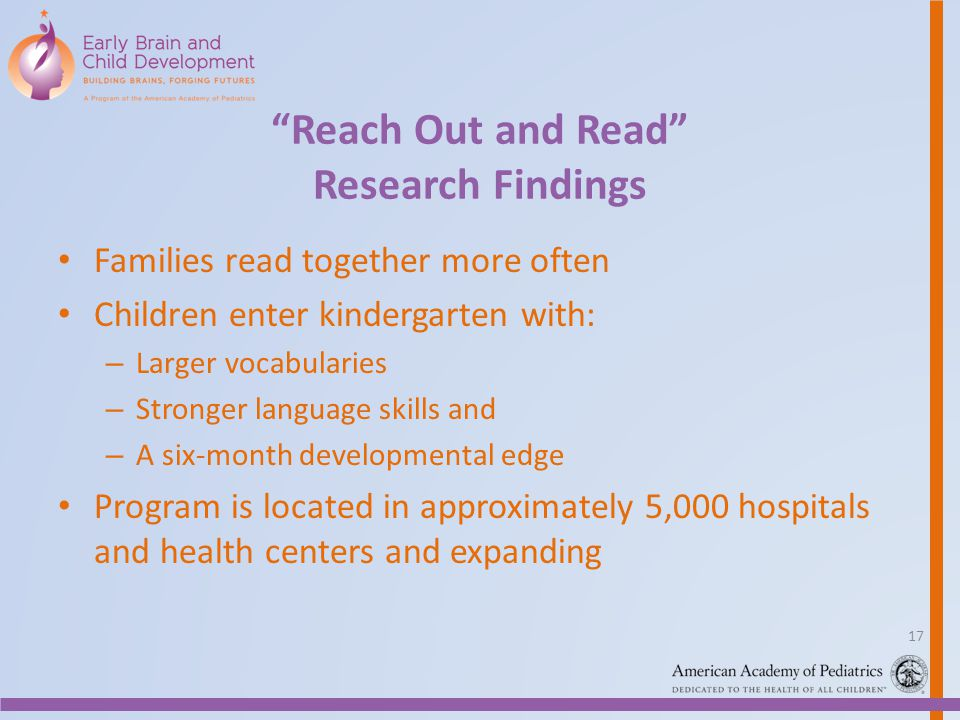 Reach Out and Read Research Findings