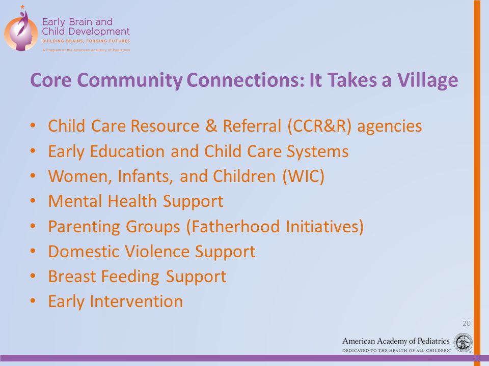 Core Community Connections: It Takes a Village
