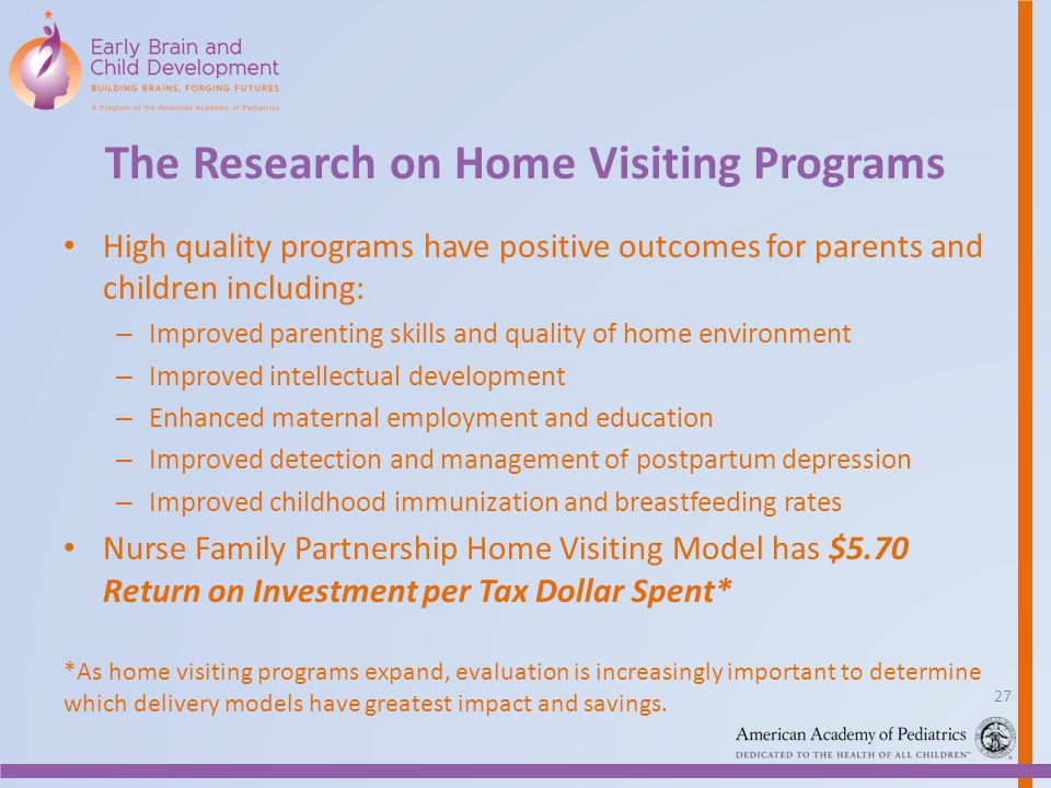 The Research on Home Visiting Programs