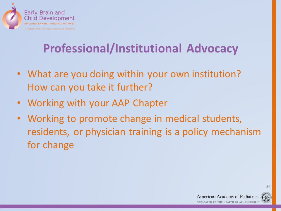 Professional/Institutional Advocacy