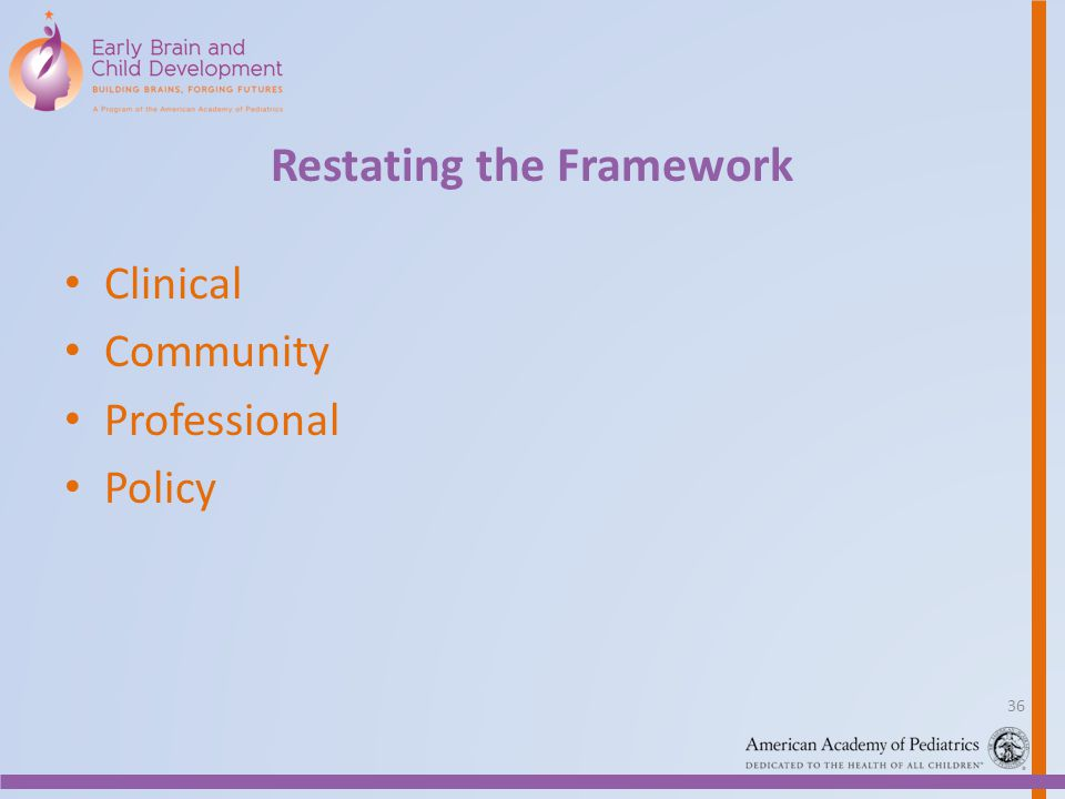 Restating the Framework