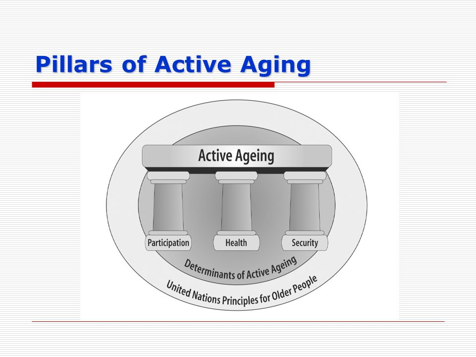 Pillars of Active Aging