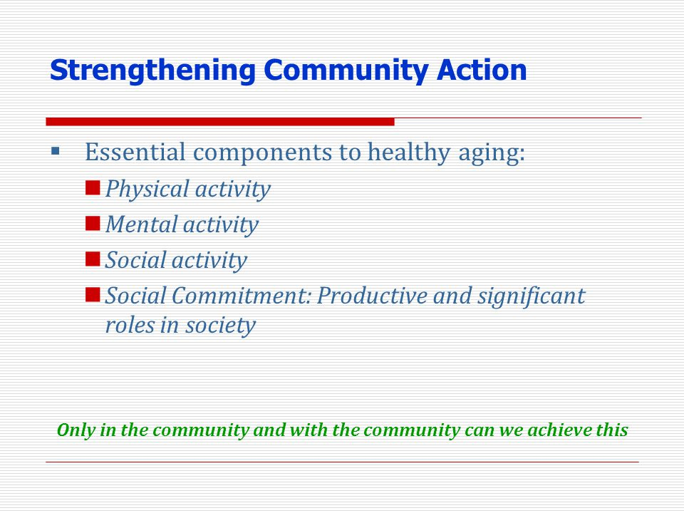 Strengthening Community Action